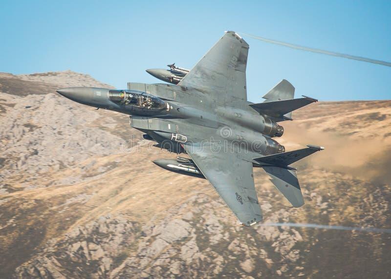 U.S.A.F. F15 de RAF Lakenheath fotos de stock royalty free