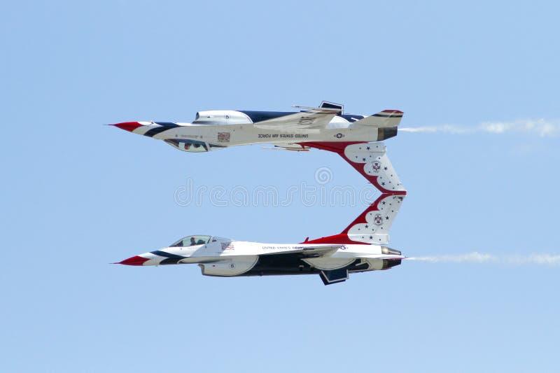 U.S.A.F.-Thunderbirds fotografering för bildbyråer
