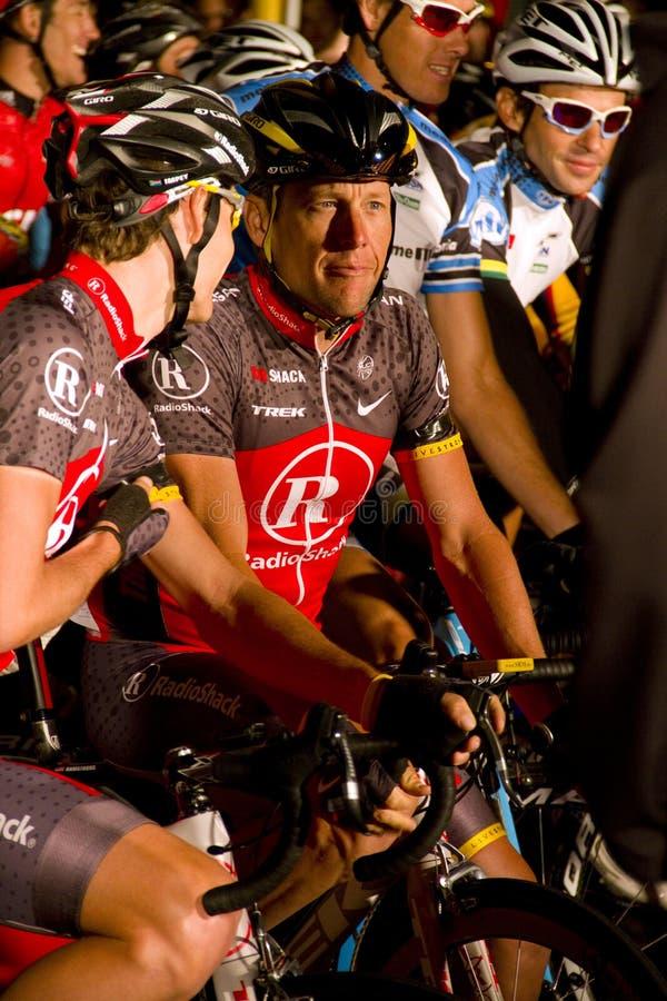 U S fietser Lance Armstrong stock foto's