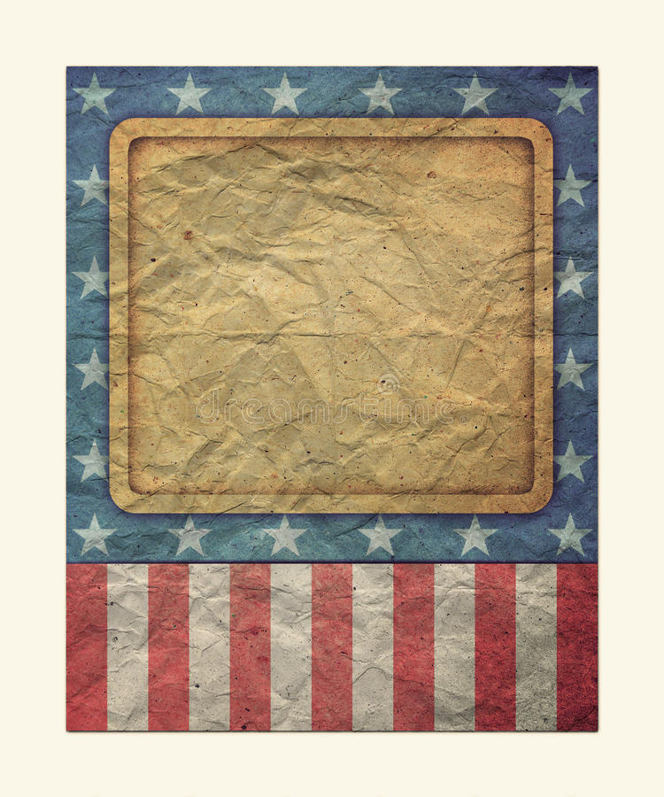 U.S.A. Flag for July 4th, Labor Day royalty free stock photography