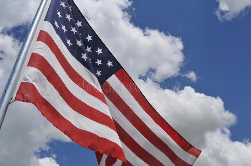 Download U.S. flag tilted stock photo. Image of stripes, flying - 24936216
