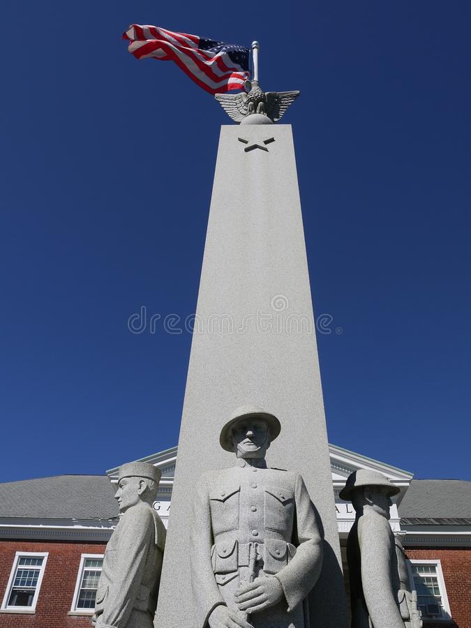 Download U.S. Flag And War Memorial Monument Stock Photo - Image: 20930484