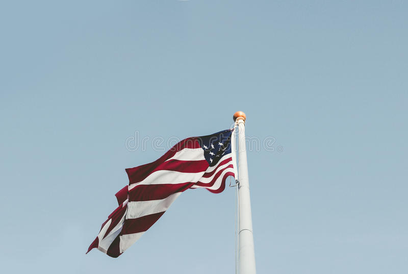 U.s. Flag And White Pole Free Public Domain Cc0 Image
