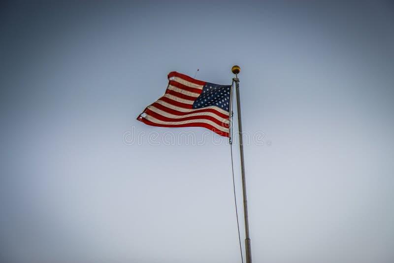 U s a Flaga na biegunie zdjęcie royalty free