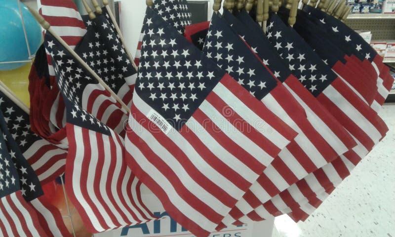U.S. Flags royalty free stock photos