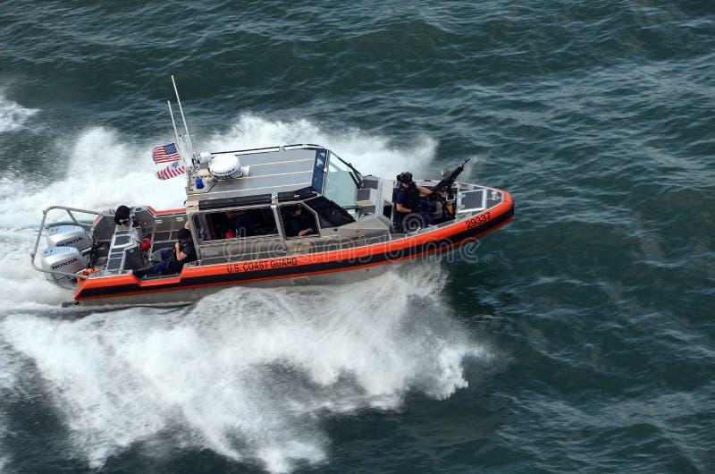 U S Guardacostas Patrol Boat imagenes de archivo