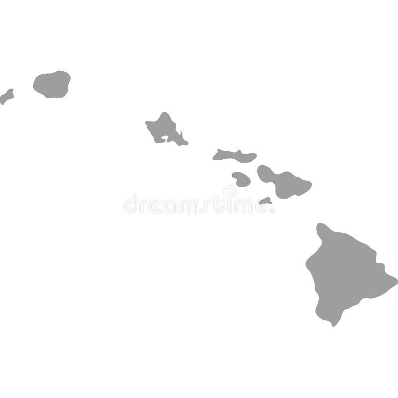 U S hawaii tillstånd vektor illustrationer