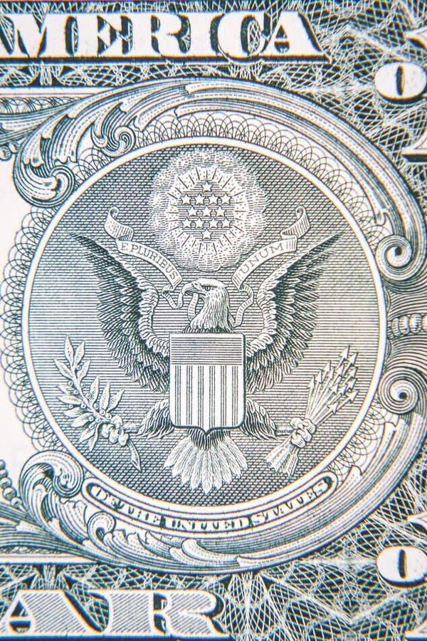 U S Het detail van het één dollarbankbiljet royalty-vrije stock fotografie