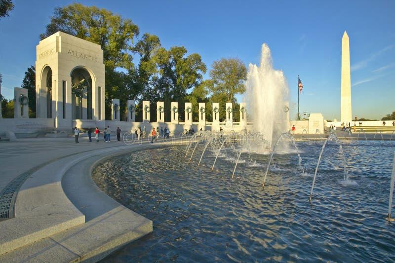 U.S. Het Gedenkteken van de Wereldoorlog II royalty-vrije stock foto