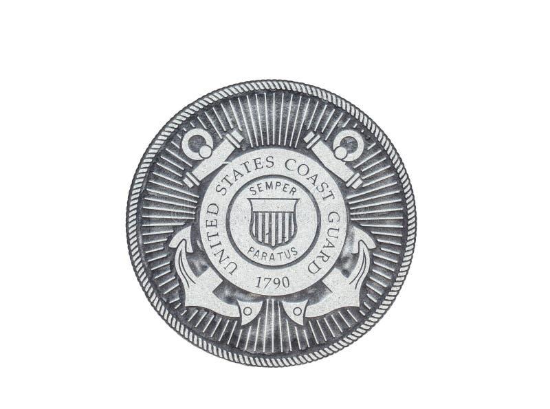 U S Het officiële zegel van kustgrard stock illustratie