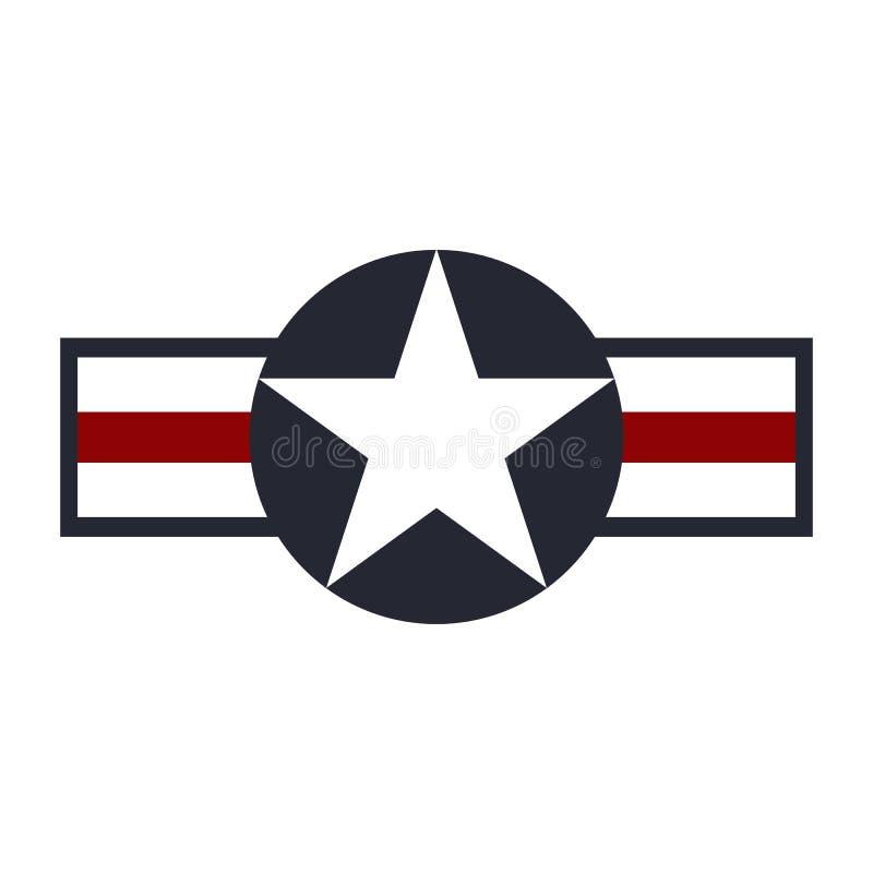 U S Het tekenembleem van de legerLuchtmacht Vector stock illustratie