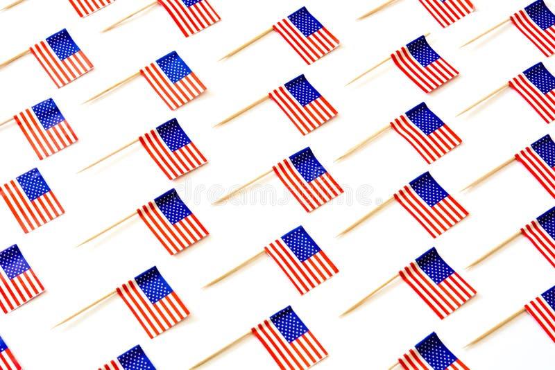 U.S.A. inbandiera il modello su fondo bianco fotografia stock