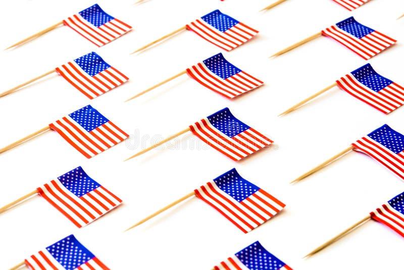 U.S.A. inbandiera il modello su fondo bianco immagini stock