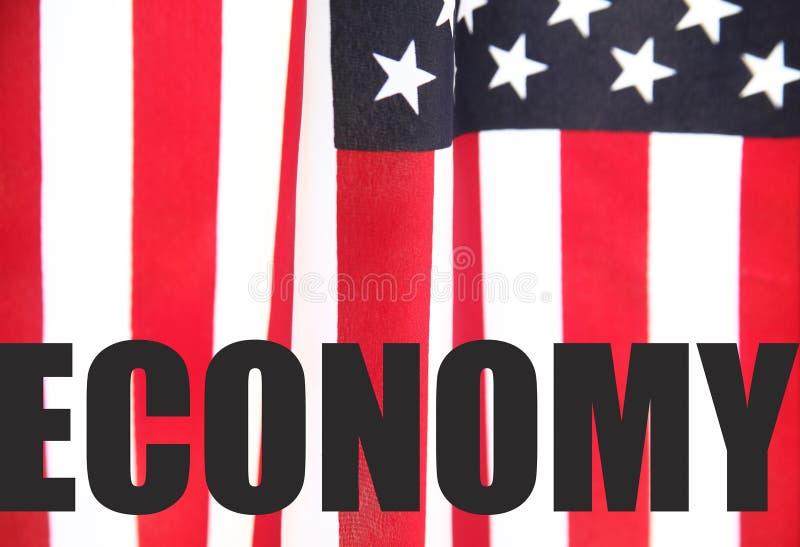 U.S. indicateur avec le mot d'économie photos libres de droits