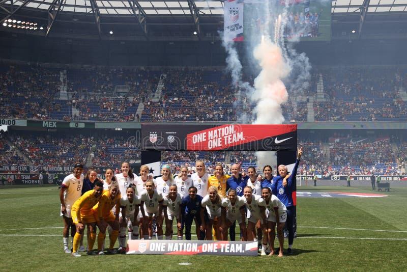 U S La coppa del Mondo Team Send-Off Celebration delle donne per la coppa del Mondo di 2019 donne sull'arena di Red Bull fotografia stock