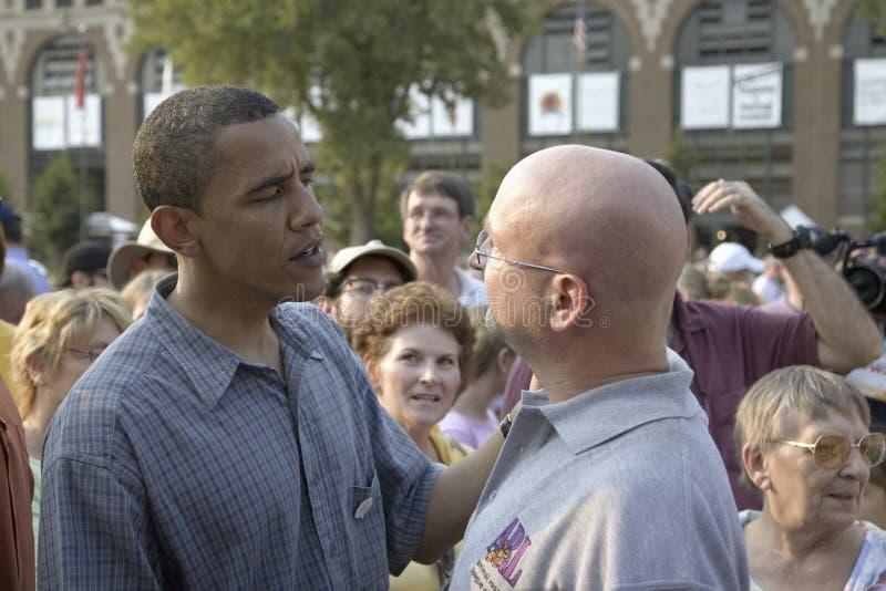 U.S. Le Sénateur Barak Obama Photographie éditorial