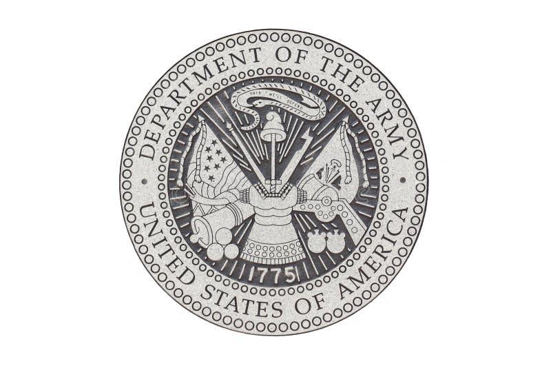 U S Legerofficieel zegel stock illustratie