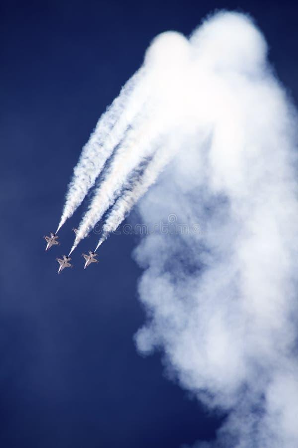 U.S. Luftwaffe Thunderbirds stockfotos