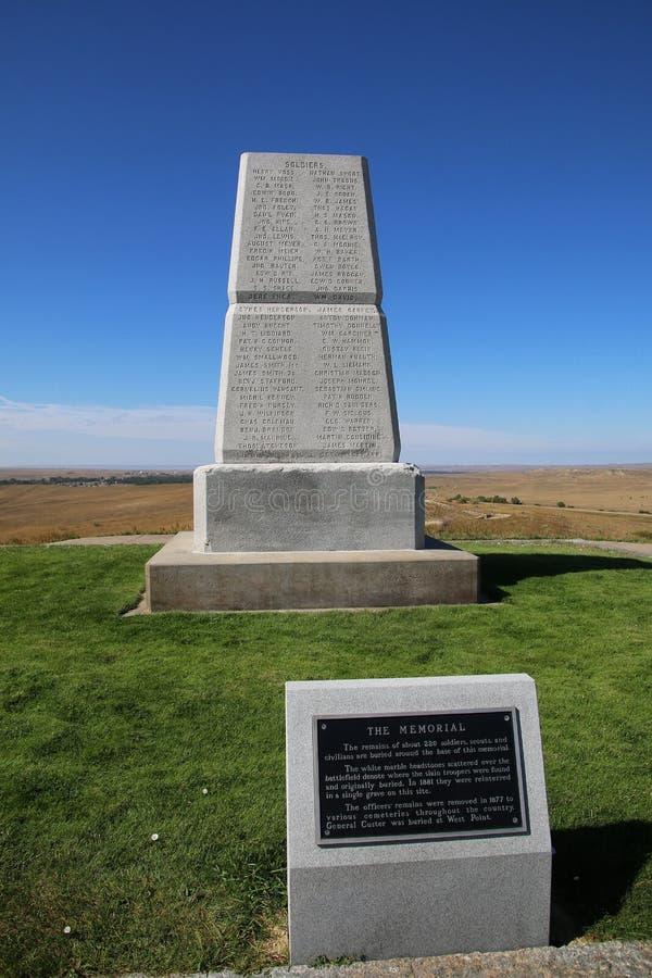 U S Mémorial d'armée sur la dernière colline de support chez Little Bighorn Battlefi images stock