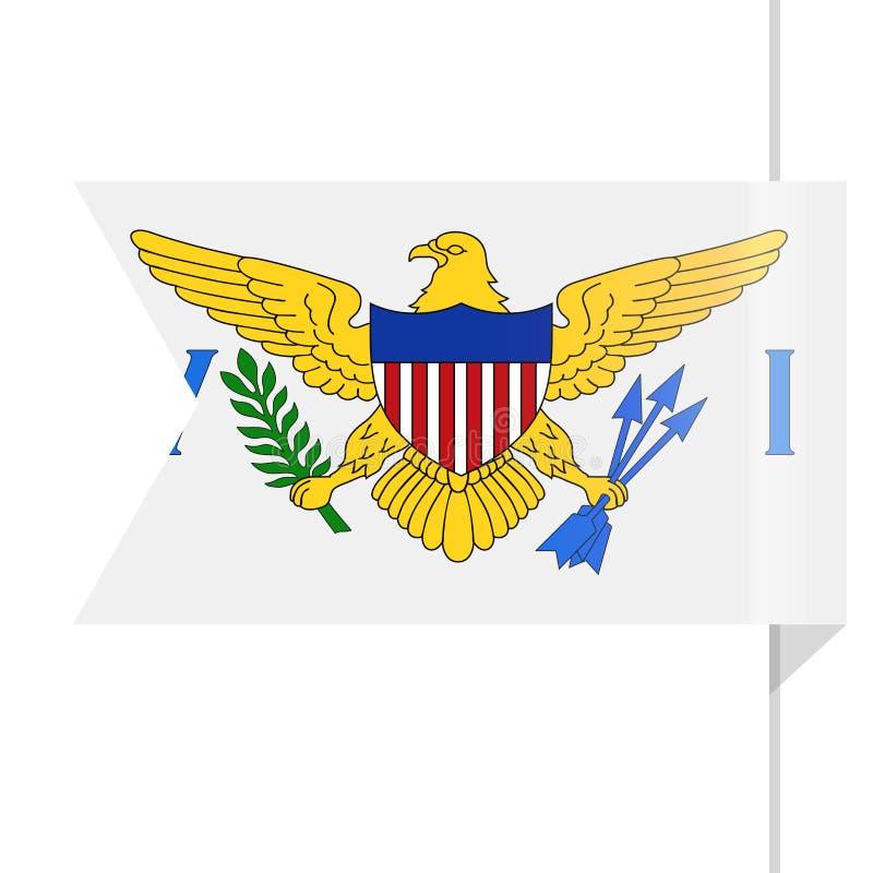 U S Maagdelijk Vector de Referentiepictogram van de Eilandenvlag royalty-vrije illustratie