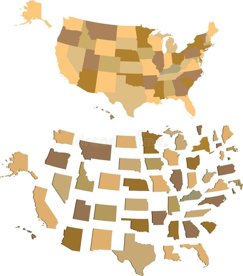 U S A Map. U S A Map om white