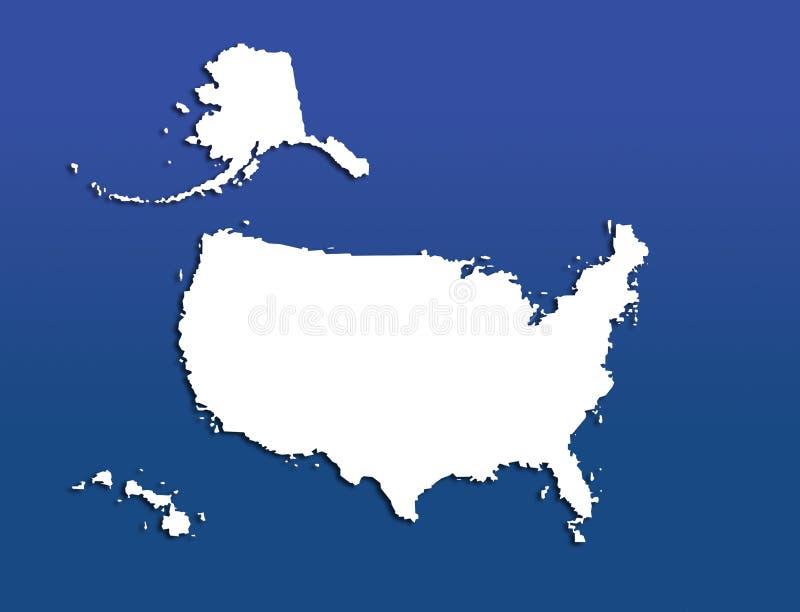 U.S. Mapa Fotografia de Stock
