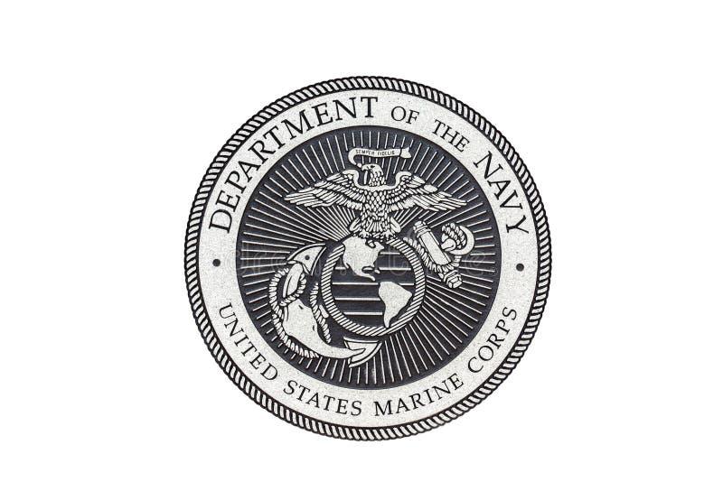 U S Marine Corps-officieel zegel royalty-vrije illustratie