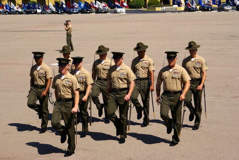 U.S. Marines royalty free stock photography