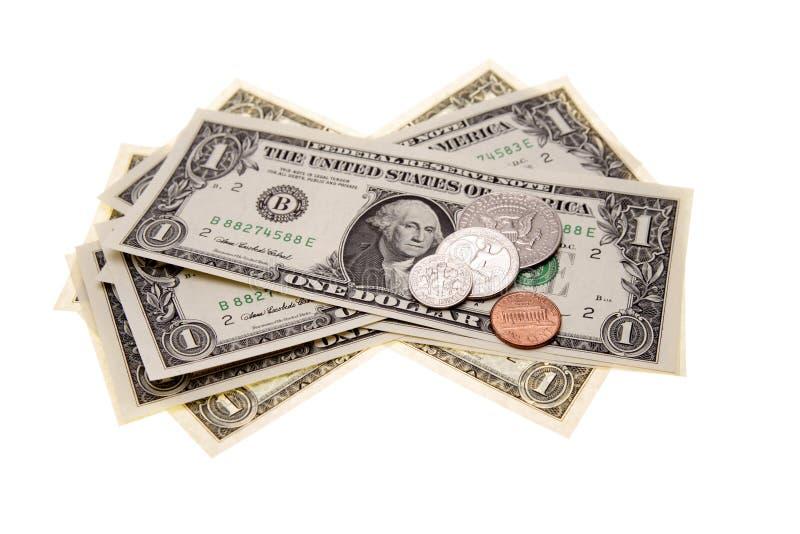 U.S. moeda imagens de stock royalty free