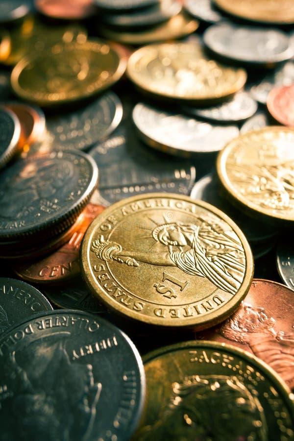U.S. moedas fotografia de stock