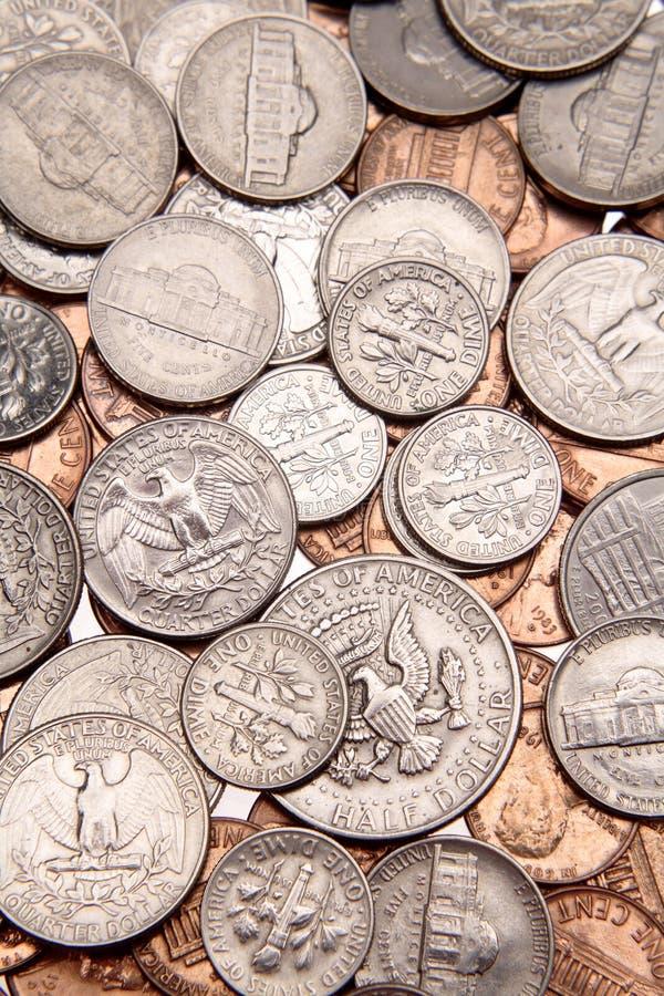 U.S. monete fotografia stock