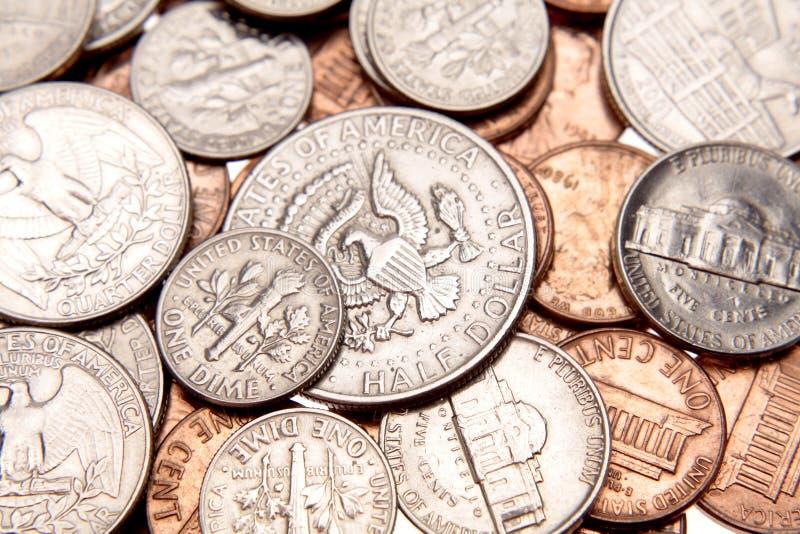 U.S. monete fotografia stock libera da diritti