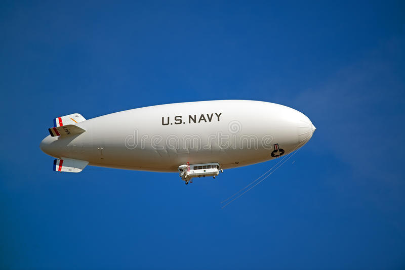 U.S. Navy Blimp In Flight royalty free stock image