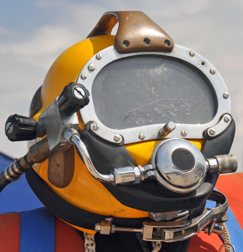U.S. Navy Diving Helmet. The U.S. Navy MK-21 Diving Helmet royalty free stock images