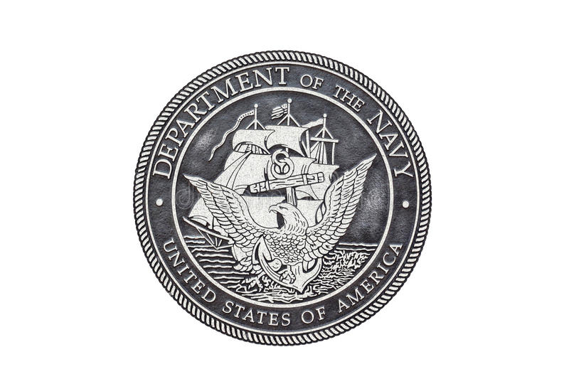 U.S. Navy official seal royalty free stock photography