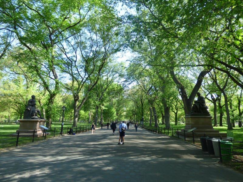 U.S.A. New York Central Park Il centro commerciale immagine stock