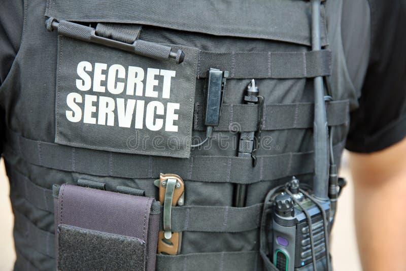 U. S. Oficial del Servicio Secreto frente a la Casa Blanca. Washington DC. EE.UU. fotografía de archivo libre de regalías