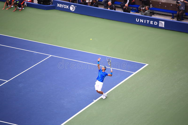 U.S. Ouvrez le tennis - Rafael Nadal photo stock