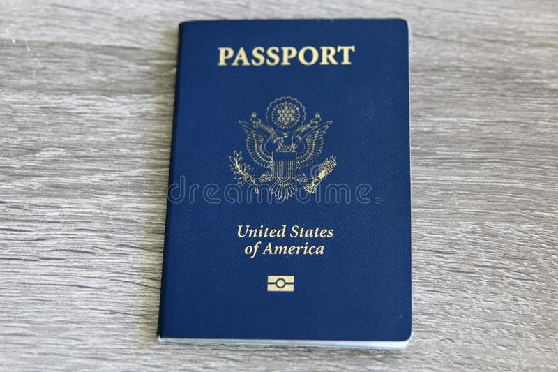 U.S. Passport with Microchip stock photography