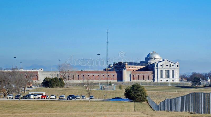 U S penitenziario Leavenworth Kansas immagini stock libere da diritti