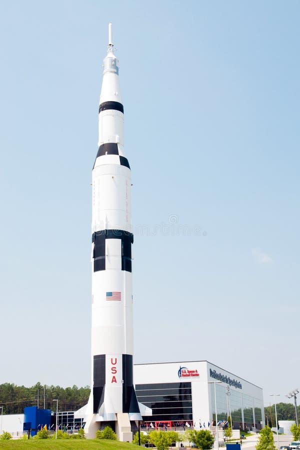 U.S. Platz und Rocket-Mitte lizenzfreie stockbilder