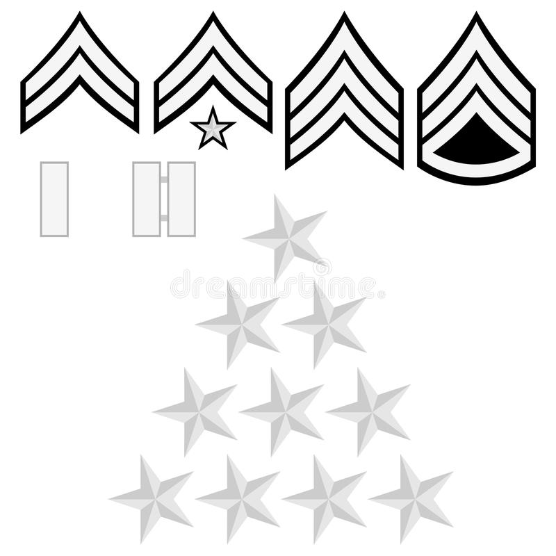 U.S. police insignia royalty free illustration