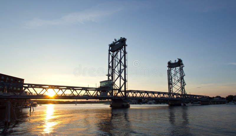 U.S.A., Portsmouth, ponte di New Hampshire immagini stock