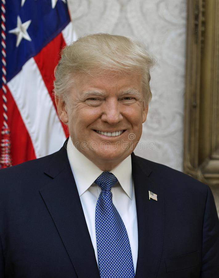 U.S. President. President Donald Trump poses for his official portrait at The White House, in Washington, D.C., on Friday, October 6, 2017 stock photos