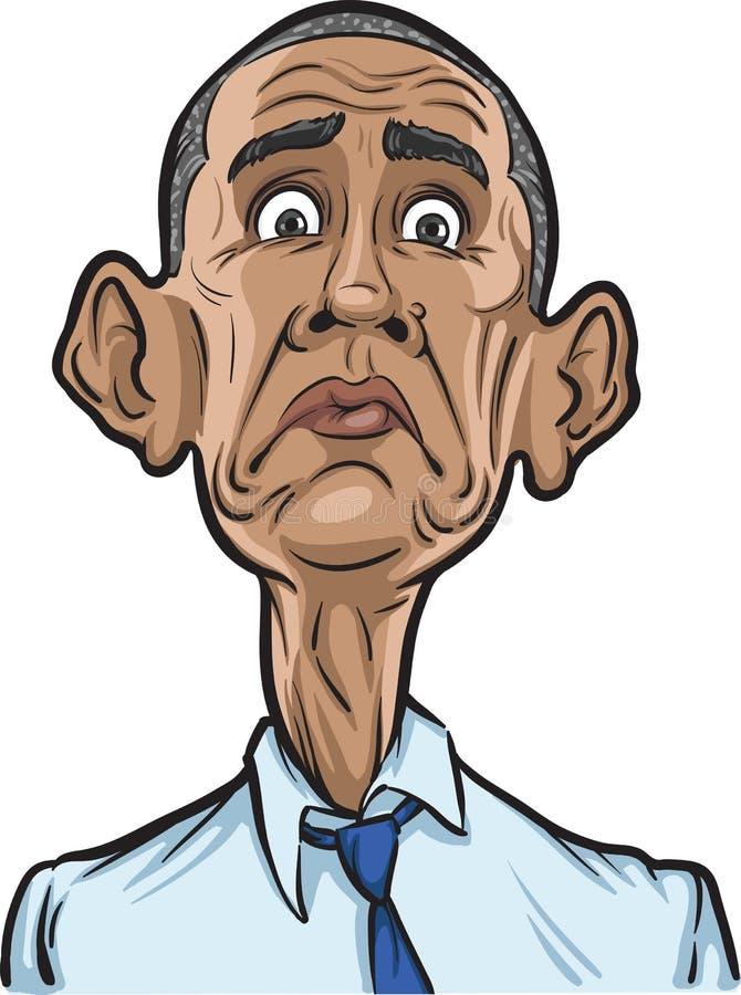 U S President verrast Barack Obama royalty-vrije illustratie
