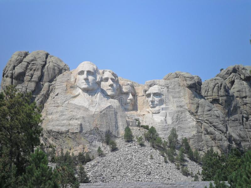U S Presidenter i Mount Rushmore medborgareminnesmärke arkivbild