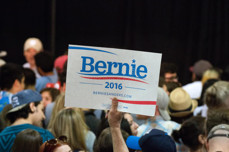 U.S. Presidential Hopeful Bernie Sanders Rally. Thousands attended a rally at the state fair grounds in Arizona to hear United States presidential hopeful stock images