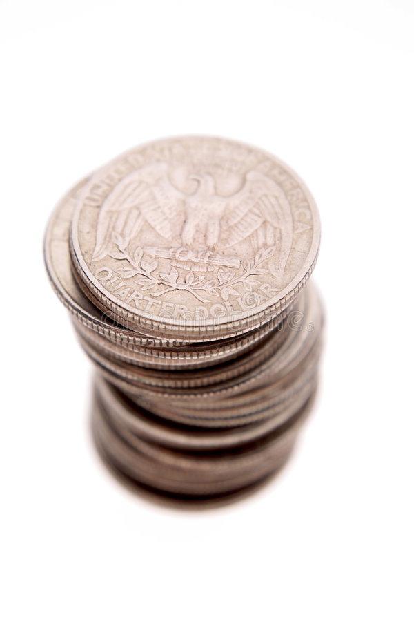 U.S. quarters royalty free stock images