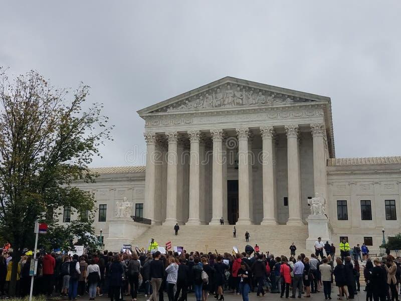 U S Reunião e protesto do kavanaugh da corte suprema imagens de stock royalty free