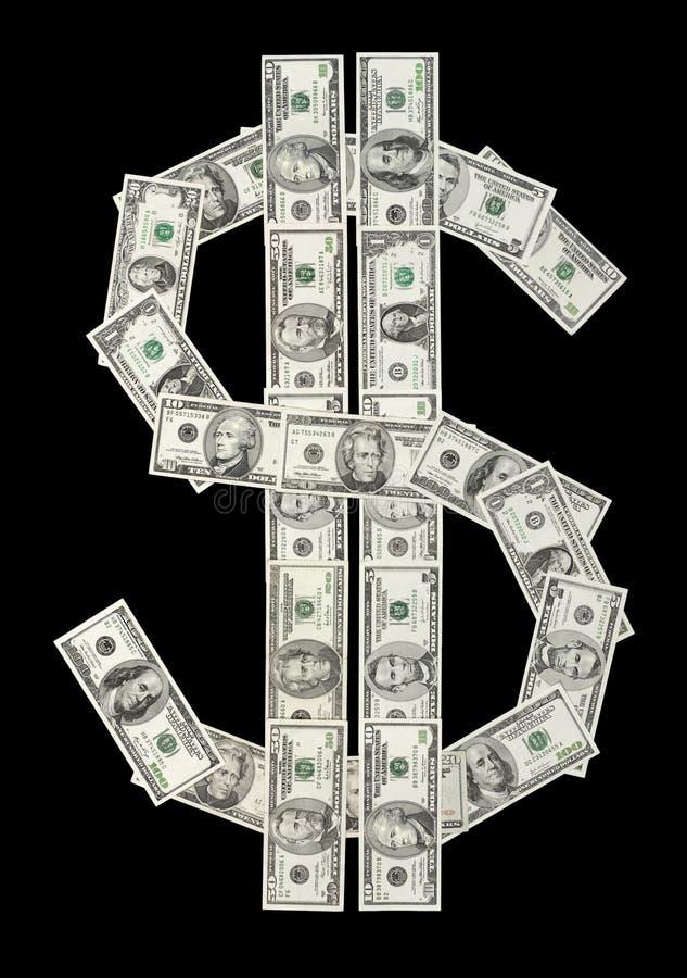 U.S. símbolo del dólar hecho del var